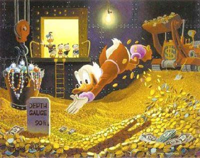Scrooge McDuck Loves Saving Money